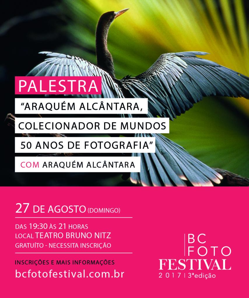 Palestra - Araquém Alcântara, Colecionador de Mundos - 50 anos de Fotografia