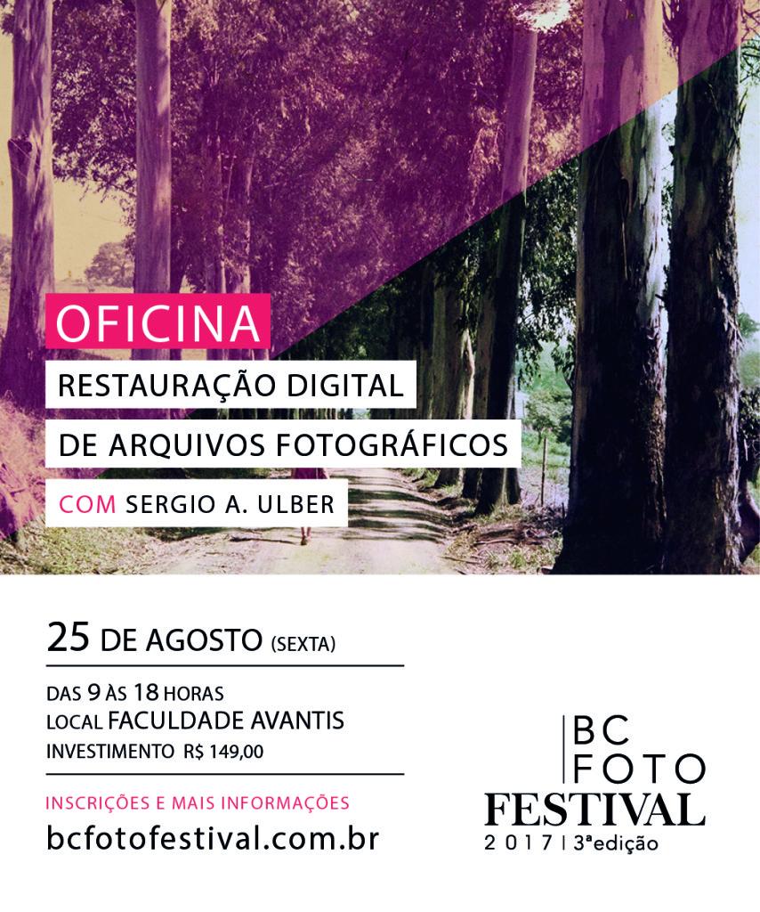 Oficina - Restauração Digital de Arquivos Fotográficos